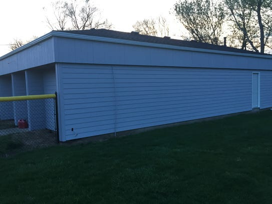 Reese Hall at Mound City Park has new siding, new paint