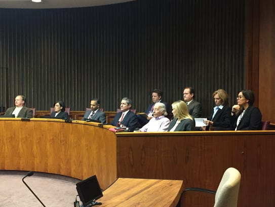 Ten of the 11 Macomb County Circuit Court judges who