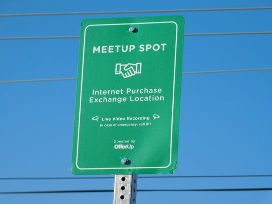 Clyde Police have two parking places designated on the southend of the Main Street City Building for a Safe Meetup Spot for online sale exchanges. Signs are posted and the parking spaces are monitored by video camera.