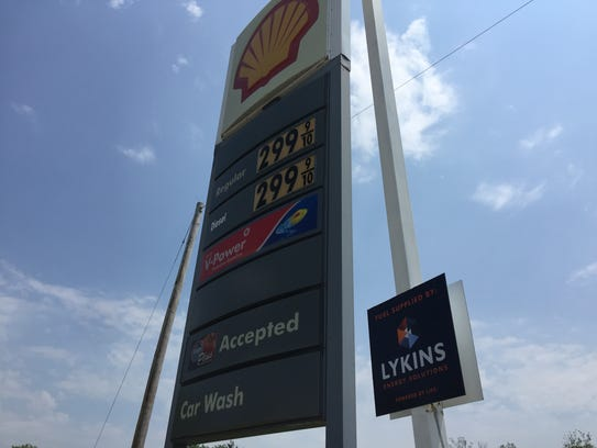 The price of regular gasoline rose to $2.99 a gallon