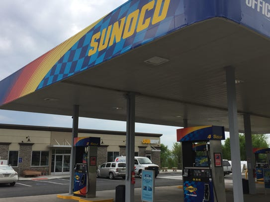 The new Sunoco gas station and convenience store and