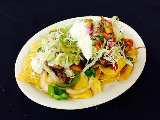 Classic Tex-Mex dishes such as nachos along with Mexican