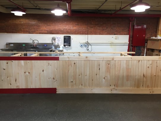 Construction is underway on a new coffee bar at Lebanon