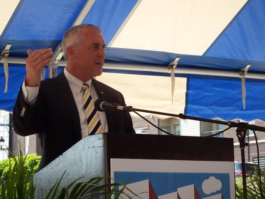 UI athletic director Gary Barta speaks at the groundbreaking