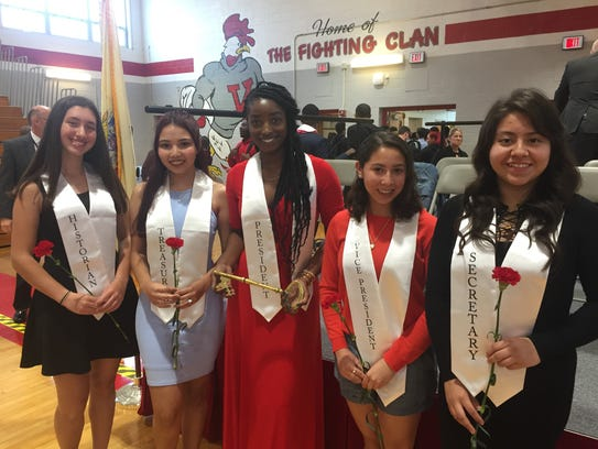 The Vineland High School Class of 2019 officers are