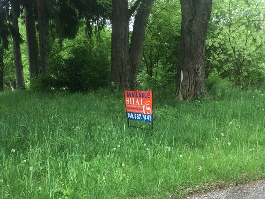 Signage for available property on River Road.