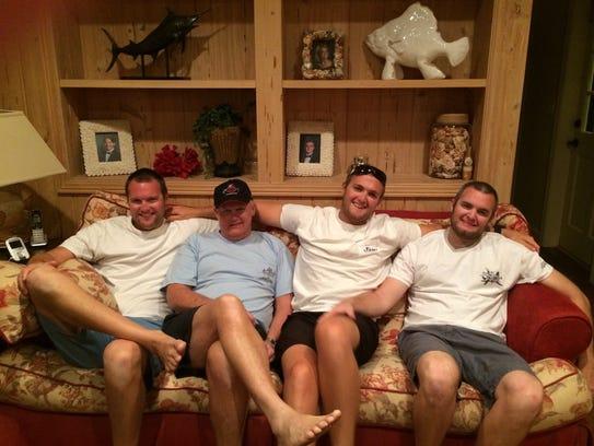 From left, are Chris Black, Richard Black, Billy Black