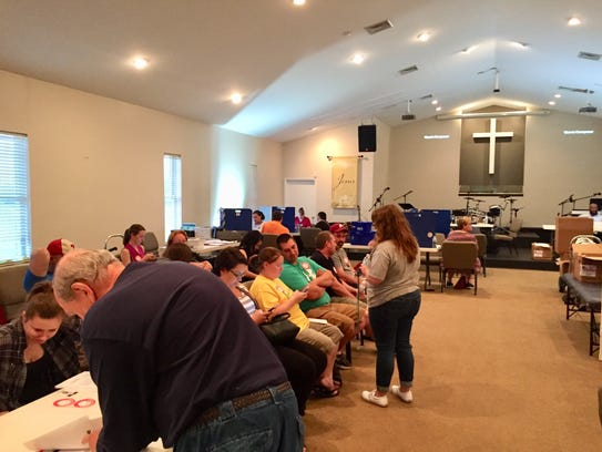 Family, friends and neighbors filled the sanctuary