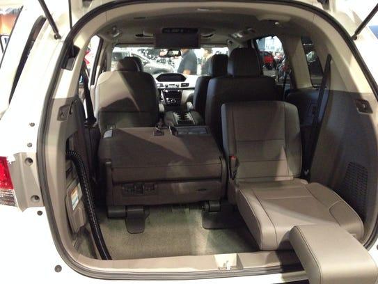 The 2016 Honda Odyssey features a Shop-Vac.
