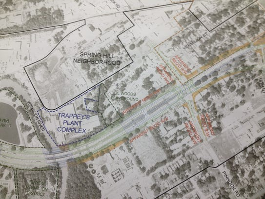Proposed design for I-49 Connector at Pinhook Road.
