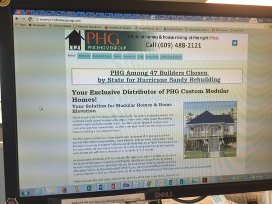 The website of the Price Home Group, which is now accused