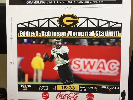 Pictured is a rendering of the new video board Grambling
