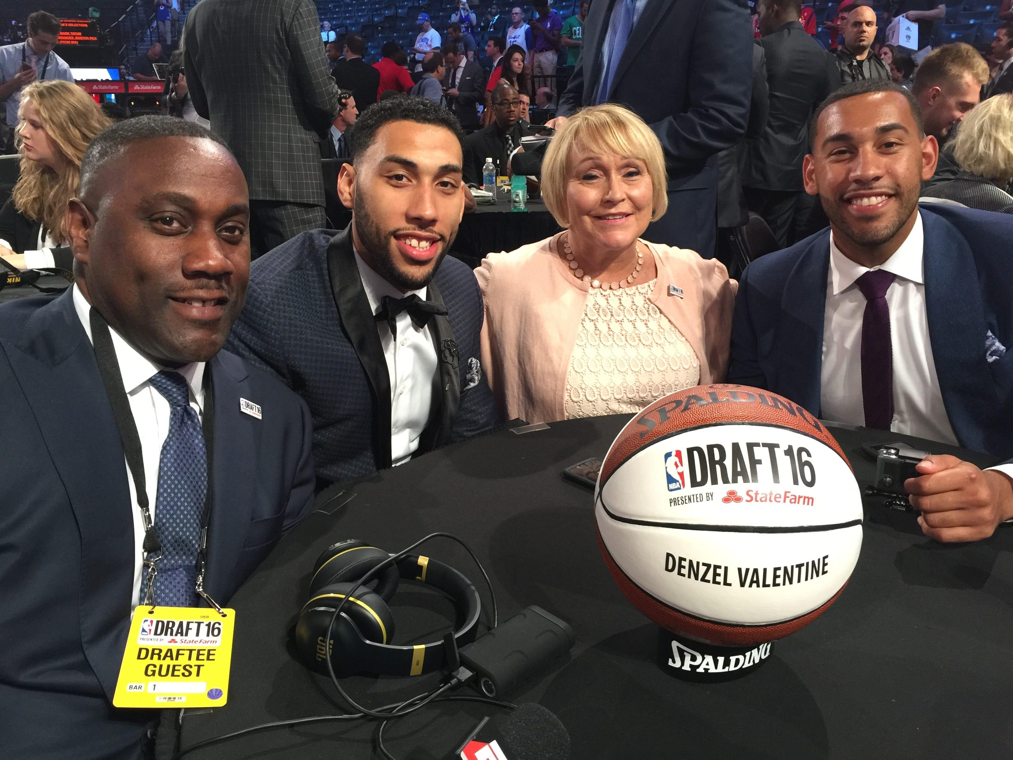 The Valentine Family, (from Left) Carlton, Denzel,