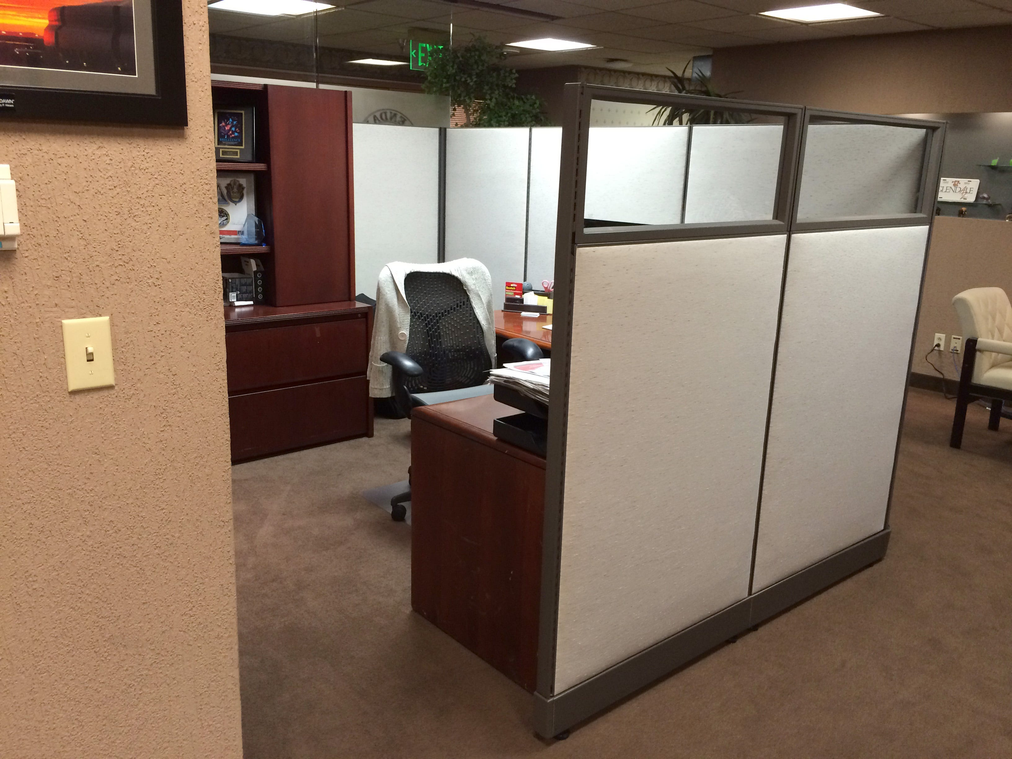 This Cubical Office Was Built In The Outer Lobby Of