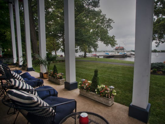 View of the Delaware River and the Riverton Yacht Club