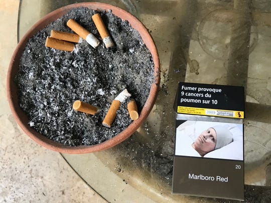 In France, cigarette packages are required to be a