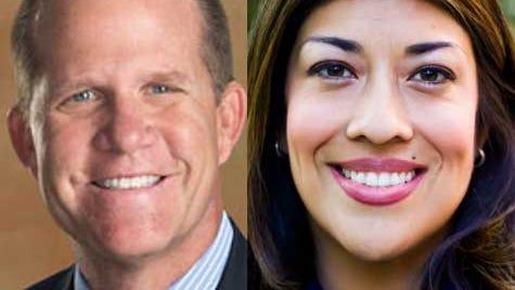 Republican Mark Hutchison, left, and Democrat Lucy Flores.