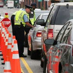 A sobriety checkpoint in 2012 in Washington, D.C.