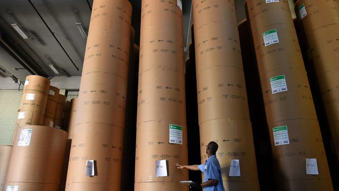 A tariff on Canadian paper mill products could send newsprint costs skyrocketing.