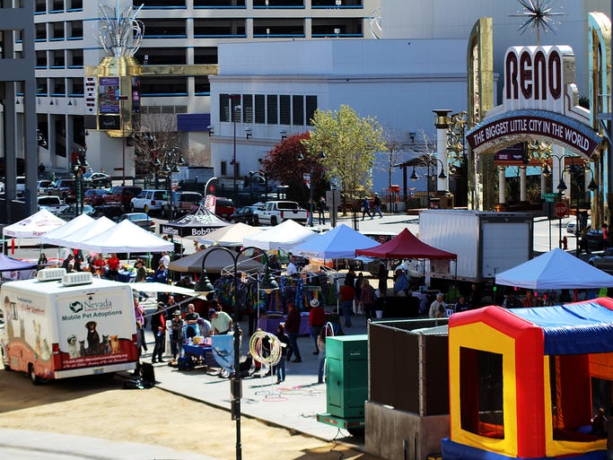 Rastro of Reno kicks-off April 6, 2014 at Reno's downtown railroad trench project corridor. The outdoor market included food, music, crafts and entertainment. The weekly event is scheduled from 9 a.m. to 3 p.m. every Sunday through September.