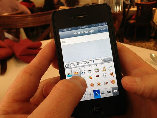 Emojis have found large success due to the iPhone.