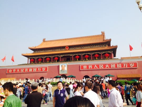 Tiananmen Square, Beijing, China.
