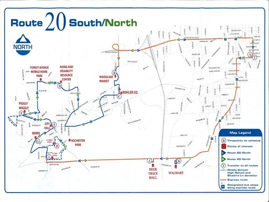 Route 20 South/North