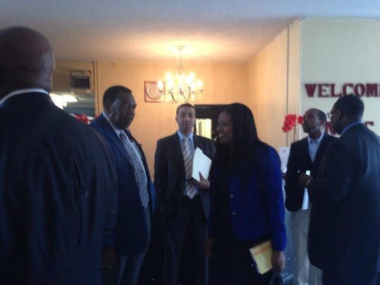 Leaders gather at  New Prospect Baptist Church to announce