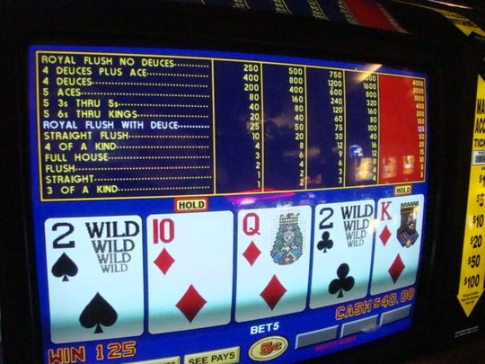 Video poker machine.