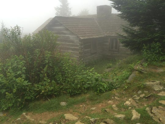 One of the guest cabins at LeConte Lodge on top of