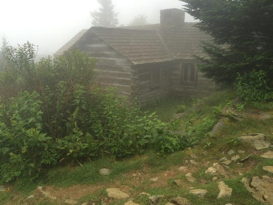 One of the guest cabins at LeConte Lodge on top of Mount LeConte in the Great Smoky Mountains National Park shrouded in fog last week. The weather on top of the 6,593-foot mountain is usually 15-20 degrees cooler than down in Gatlinburg, Tennessee.