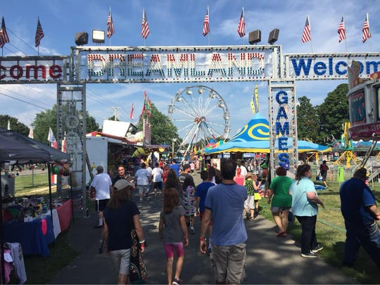 The Ulster County Fair, on opening day, in 2015.
