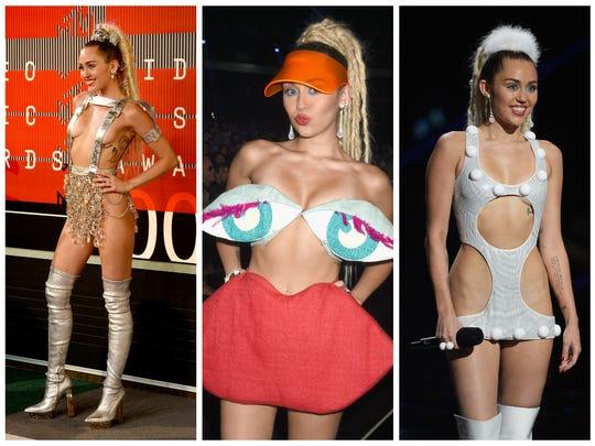 A sampling from Miley's VMA closet.