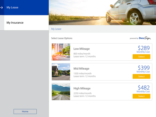 Customers can make quick selections about their car