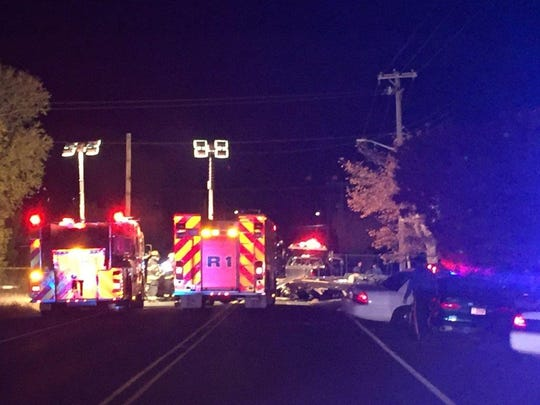 West Garden Road in Vineland was closed for several hours Saturday into Sunday while police investigated a crash in which two men died.