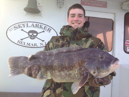 Dylan Voll, of Wall, then age 15, caught this 17-pound tog aboard the Skylarker last season.