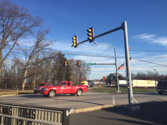 The intersection of East Berlin Road and Carlisle Pike