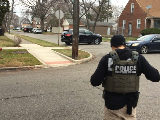An officer with the Violent Crimes Task Force at the