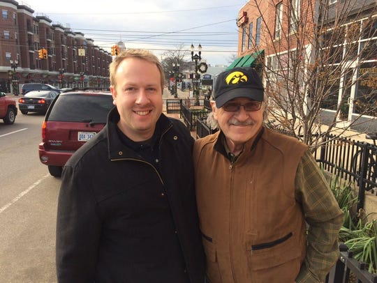 LSJ columnist Graham Couch with his future father-in-law,