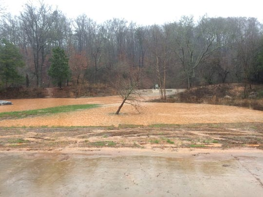 Flooding in Dolly Cooper Park in Powdersville.