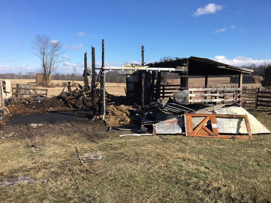One horse was killed while another was rescued from an early morning barn fire in Highland Township.