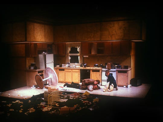 """A scene from the NMSU Department of Theatre Arts and American Southwest Theatre Company's 1988 production of """"True West."""""""