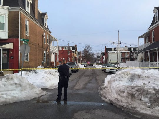 Police shut down a stretch of Hawthorne near the 700 block of West King Street Sunday afternoon after a shooting occurred in the area.