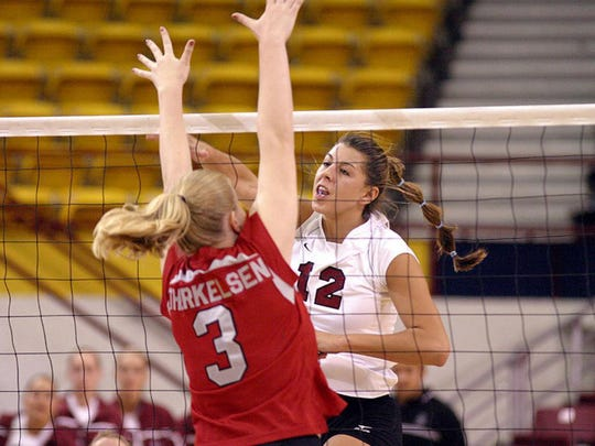Former New Mexico State volleyball player Stevi Adams Maytubby will be indicted into the NMSU Hall of Fame.
