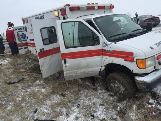 An ambulance transporting a patient through Delaware