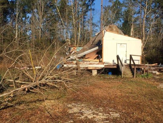 Century tornado damage