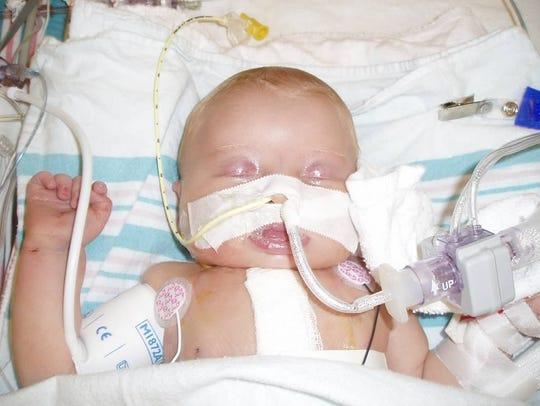 Katie Lalor as a newborn.