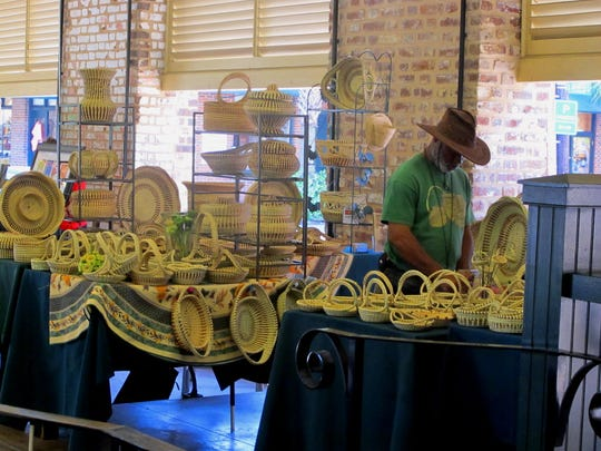 Sweetgrass baskets woven by the descendants of slaves