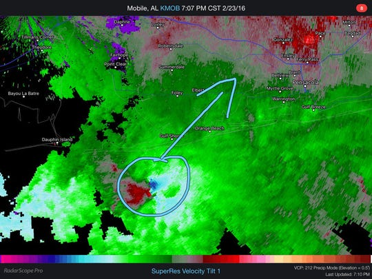 710PM- closely watching this intense circulation as it comes on shore. This is a very dangerous storm #alwx #flwx