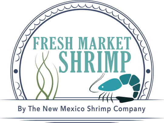 Fresh Market Shrimp by the New Mexico Shrimp Company.